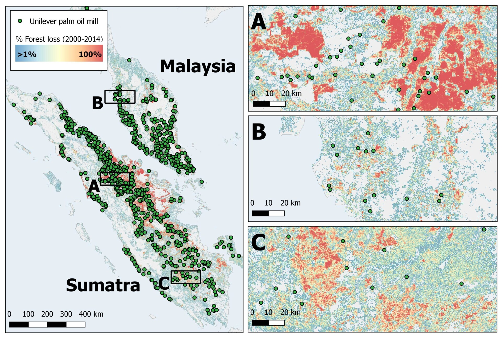 Forest change in Indonesia