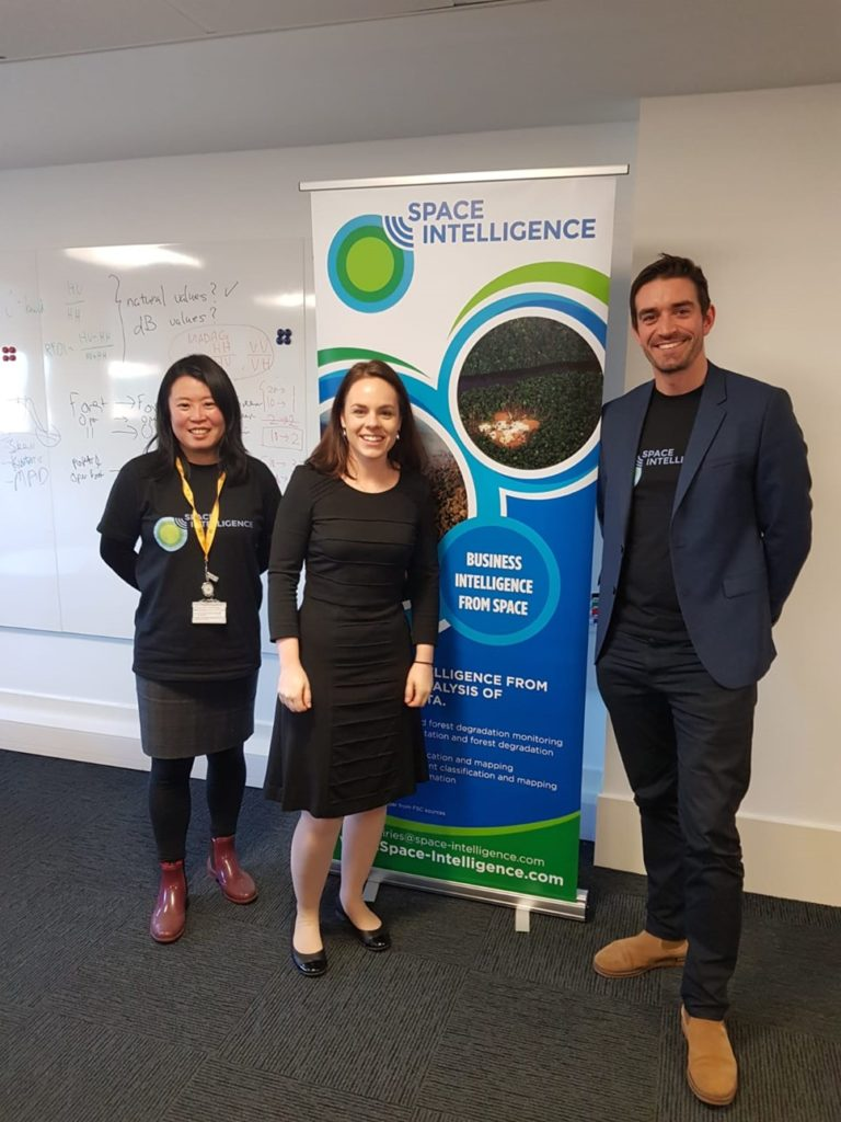 Space Intelligence team with Kate Forbes MSP